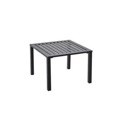 Table basse 50 x 50, noir, gris, blanc ou bronze