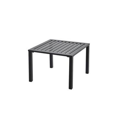 Table low 50 x 50, black, grey, white or bronze