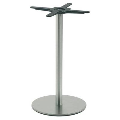 40, column round satin stainless steel round base.