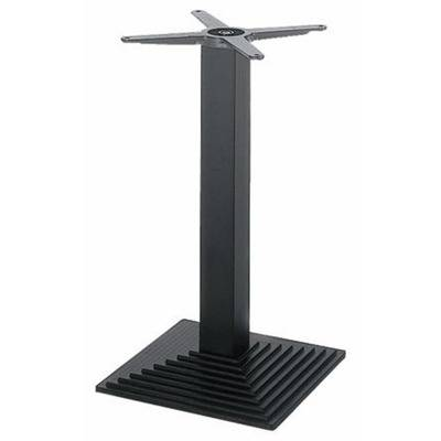 Base e carr 40 x 40 black iron