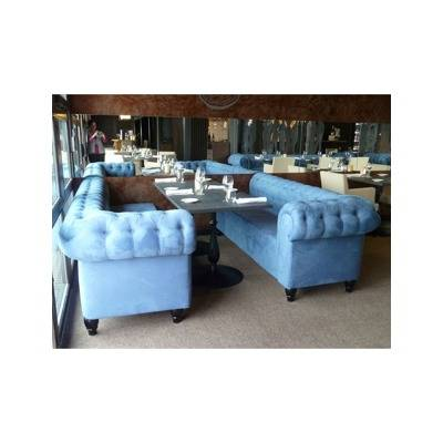 Sofa capitonn style meal or living room sitting Chesterfield
