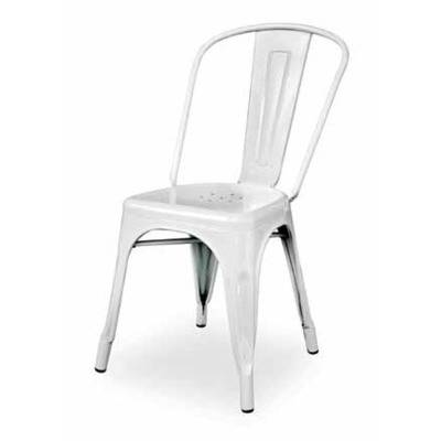Chair m tal ZAK, white finish, silver, orange, red, black, blue, transparent varnished, rust finish