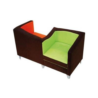 Assisi fa on cushion, foot wood