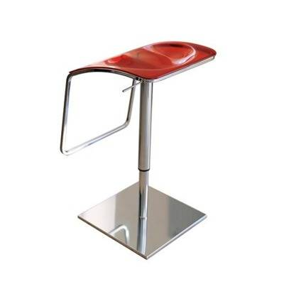 Acrylic transparent, MED, rotating seat red translucent, black, white, red,-height r adjustable 54 / 80cm