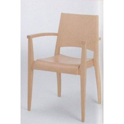 Seat and back wood