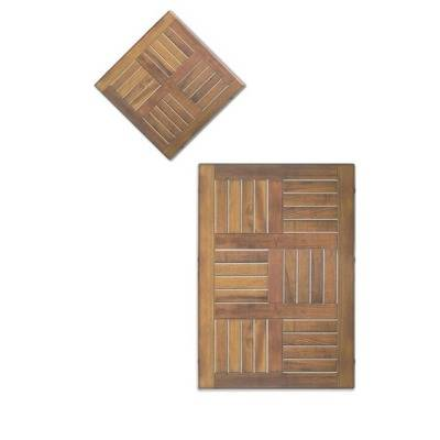 Moul imitation teak table top