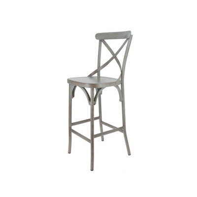 structure, assise et dos aluminium finition vintage, gris ou rouge