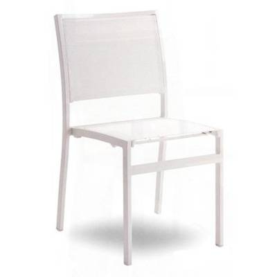 Seat and back batyline, ch ssis White aluminium