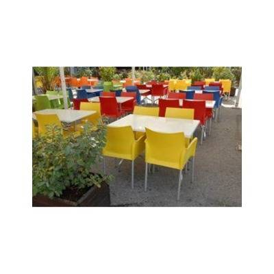 Polypropylene back & seating.