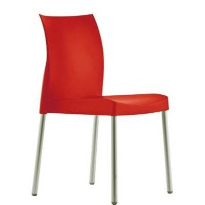 Aluminium frame, special treatement. Polypropylene seating and back.