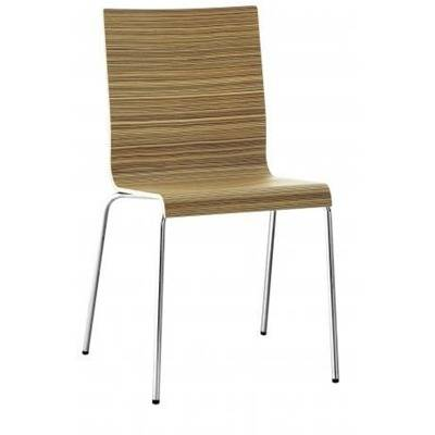Zebrano or ebene chair, frame diametre 16, bassed aluminium finish-extra fee for chomed finish 15€