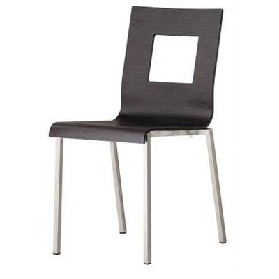 (/C)White oak tree or wenge chair squared frame 20x20, aluminium pattern finish- extra fee for chromed frame 15€