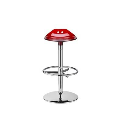 - Piètement chromé, assise polycarbonate