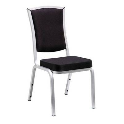 Ch ssis aluminium colour silver, seat and back fabric s upholstery black fire