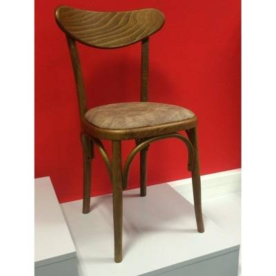 -seat e upholstery, back wood