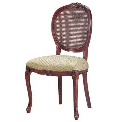 Upholstered seating, Caned back