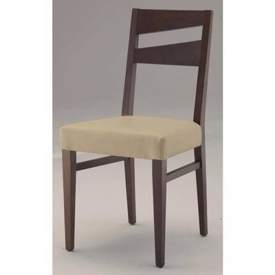 Seat upholstery e, back wood