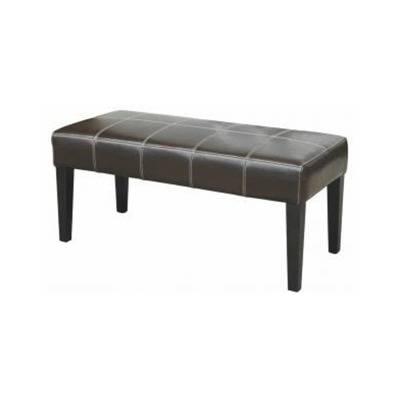 Rectangular pouf seat smooth