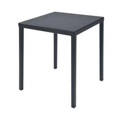 Pr - ZAK and rev polyester completely steel stackable table.